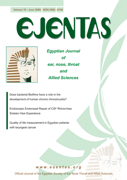 Egyptian Journal of Ear, Nose, Throat and Allied Sciences